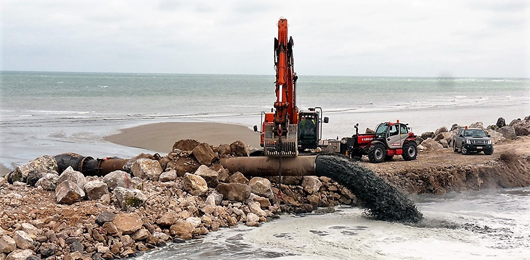Dredging and backfilling the cavalier